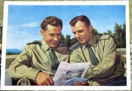 Cosmonauts, Astronauts, Y. Gagarin And G. Titov 1961 USSR Postcard - Russia