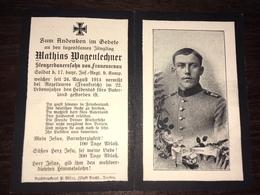 Sterbebild Wk1 Ww1 Bidprentje Avis Décès Deathcard IR17 24. August 1914 ROZELIEURES Aus Frauenornau - 1914-18