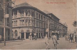 CPA Ceylon - Colombo - Fort Main Street (jolie Animation Avec Tram) - Sri Lanka (Ceylon)