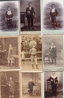 Lot De 9 Photos Anciennes - Jeunes Garçons (dim. Env. 6x10 Cm) - Antiche (ante 1900)