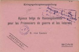 Deutsches Reich POW Postkarte 1914-18 - Germania