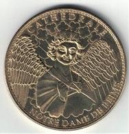 Medaille Arthus Bertrand 51.Reims - Cathédrale Notre Dame Ange Croix Plate 2006 - Arthus Bertrand