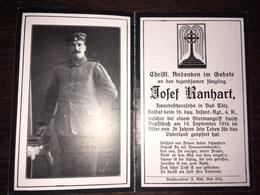 Sterbebild Wk1 Ww1 Bidprentje Avis Décès Deathcard IR16 14. September 1916 Aus Bad Tölz - 1914-18