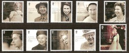 Gibraltar 2016 Micheln°  1717-1726 *** MNH 90th Birthday Queen Elizabeth II - Gibraltar