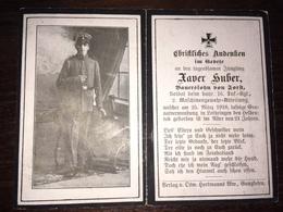 Sterbebild Wk1 Ww1 Bidprentje Avis Décès Deathcard IR16 LAFRIMBOLLE MGK LOTHRINGEN Aus Forst - 1914-18