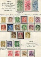 10642  SUISSE  Collection Vendue Par Page °/*  1900-17  TB - Suisse