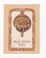 CARTE PARFUMEE PARFUM AGMORE GELLE FRERES PARIS - Perfume Cards