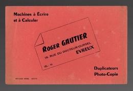 Buvard Machines à écrire Et à Calculer Roger Gautier Evreux - Carte Assorbenti