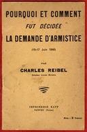 ** LA  DEMANDE  D' ARMISTICE  1940  -  CHARLES  REIBEL ** - 1939-45