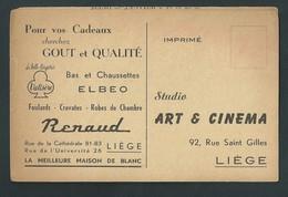 Liège Art Et Cinéma. Affichette En 3 Volets. Format Carte Postale. Programme, Publicités. 3 Scans - Programma's
