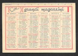 CALENDARIETTO TASCABILE 1951 CIM GRANDI MAGAZZINI - Calendari