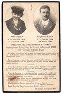 Faire-part  Souvenir Des Décés De Raymond Roger  (23 Ans ) Et De René Roger (7 Ans) - Décès