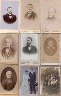 Lot De 9 Photos Anciennes - Hommes, Ecclésiastiques,couple (dim. Env. 6x10 Cm) - Antiche (ante 1900)