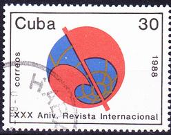 """Kuba Cuba - Zeitschrift """"Probleme Des Friedens Und Des Sozialismus"""" (Mi.Nr.: 3220) 1988 - Gest Used Obl - Cuba"""