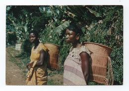 Postcard 1960s AFRICA ANGOLA Black Woman Agirculture Labor Femmes Femme AFRIQUE - Angola