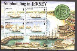 Jersey 1992 Shipbuilding On Jersey, Ships Mi  Bloc 6, MNH(**) - Jersey