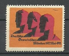 Deutschland 1922 Deutsche Gewerbeschau München Reklamemarke Werbemarke Poster Stamp MNH - Vignetten (Erinnophilie)