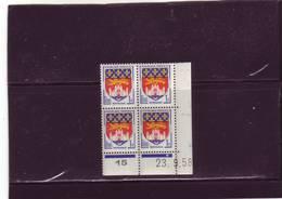 N° 1183 - 1F BORDEAUX - B De A+B - Tirage Du 10.9.58 Au 6.10.58 - 23.09.1958 - - Coins Datés