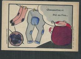 Illustrateur. Dessin De Claire Villeneuve,imagerie Pellerin à Epinal (Vosges), Chaussettes Et Pot Au Feu - Andere Illustrators