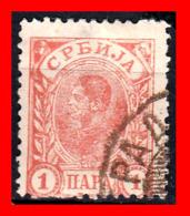 SERBIA SELLO AÑO 1890 King Milan - Serbien