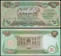 25 Pieces Iraq 25 Dinars 1990 UNC - Turkmenistan