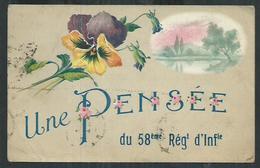 Vaucluse. Une Pensée Du 58eme Régiment D'infanterie à Avignon - Avignon