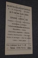 RARE,belle Carte Publicitaire Ancienne,maison Douniau à Chimay,Saint-Nicolas, Pour Collection - Publicité