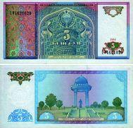 25 Pieces Uzbekistan 5 Sum 1994 UNC - Ouzbékistan