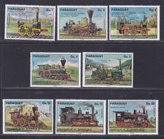 PARAGUAY N° 1467 à 1471, AERIENS 720 à 722 ** MNH Neufs Sans Charnière, TB (D8139) Train, Locomotives -1976 - Paraguay