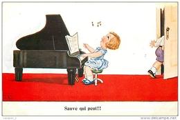 Illustrateur John Wills - Sauve Qui Peut !! ( Musique - Piano - Pianiste ) - Wills, John