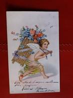Cupidon, Ange / Angelo - CPA Gaufrée - Viaggiata Il 29.12.1904 Da Rocca Di Papa - Angeli