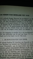 Publicatie DE HEREN VAN BESELARE TOT 1418 - Vieux Papiers