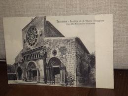 CARTOLINA TUSCANIA BASILICA DI S.MARIA MAGGIORE FORMATO PICCOLO - Altre Città
