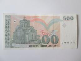 Macedonia 500 Denari 1993 Banknote - Macédoine