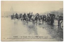 Paris La Grande Crue De La Seine Janvier 1910 L'Esplanade Des Invalides ND Phot 139 - Floods