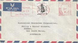 "Cyprus 1979 Limni Mines Meter Neopost ""205"" RN 243 Sulphur Cupper Minerals Slogan Cover - Mineralen"