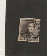 COB N° 1 Epaulettes - 4 Marges - (Voir Petit Coup De Cisaux Dans Le Coin Inférieur Droit) - 1849 Epaulettes