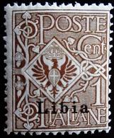 1912 Italie - Lybie Yt 1 . Italian Stamps Overprinted . Colonies - Libya . Neuf Trace Charnière - Libye