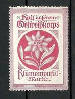 AUSTRIA Österreich Ca 1917 Heil Unserem Edelwisskorps Blumenteufel-Marke * - Vignetten (Erinnophilie)