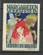 Deutschland 1912 Margareten Volksfest Leipzig Werbemarke MNH - Vignetten (Erinnophilie)
