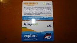 Bus Ticket (7days Card) From MALTA - Bus Fahrkarte - Transports