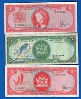 Trinité Et  Tobago  3  Billets - Trinité & Tobago