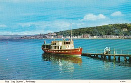 Postcard The Gay Queen Rothesay Pleasure Craft / Ferry Shipping Interest My Ref  B12777 - Ferries