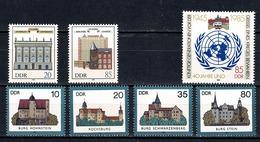 DDR 1985 Yv 2599/2602**, 2603/04**, 2605**, Mi 2976/79**, 2980/81**, 2982** MNH - Unused Stamps