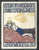 DEUTSCHLAND Ca 1915 Verein F. Knabenhort U. Ferienkolonie  Bamberg Werbemarke (*) - Vignetten (Erinnophilie)