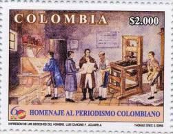 Lote 2393, Colombia, 2006, Sellos, Stamp, CPB, Homenaje Al Periodismo Colombiano, Journalism, Watercolor, Art - Colombia