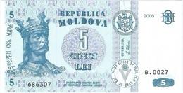 Moldavia - Moldova 5 Leu 2005 Pick 9d UNC - Moldavie