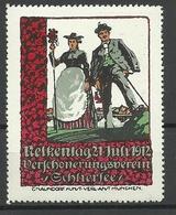 DEUTSCHLAND 1912 Nelkentag Verschönerungsverein Schliersee Werbemarke * - Vignetten (Erinnophilie)