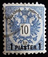 "1888 Levant Autrichien Yt 17 . ""PIASTER"" On Coat Of Arms .  Offices In The Turkish Empire - Levant Autrichien"