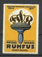 DEUTSCHLAND 1914 Dt. Werkbund Ausstellung Köln Fr. W. Ruhfus Geschäftbücher Dortmund MNH - Vignetten (Erinnophilie)